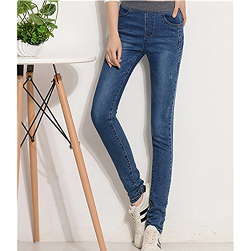 spritechtm-womens-autumn-slim-relaxed-elastic-waist-jeans-pants-blue