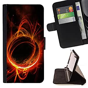 DEVIL CASE - FOR Samsung Galaxy S5 Mini, SM-G800 - planeta vselennaya traektoriya - Style PU Leather Case Wallet Flip Stand Flap Closure Cover