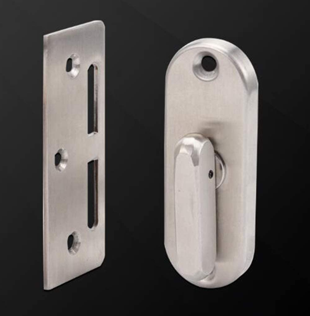 Sliding barn Door Lock and Latch Bolt Lock cam Lock Sliding Door Lock 90 Degree Moving Door Right Angle Buckle Privacy Lock