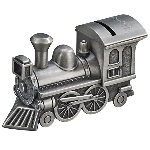 Creative Gifts International Train Bank with Matte Finish, Silver
