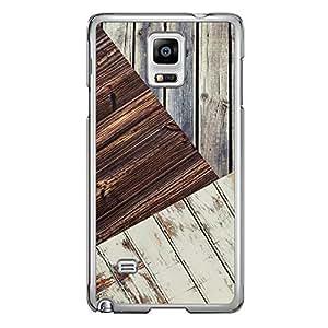 Loud Universe Samsung Galaxy Note 4 Madala N Marble A Wood 10 Printed Transparent Edge Case - Brown