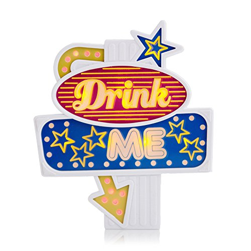 Marshall Led Sign - SUCK UK  Flashing Bottle Topper (Drink me)