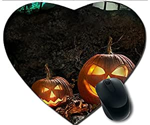 Hot Heart-Shaped Comfortable Mouse Pad - Customizable Printed On Two Pumpkin Village Durable Cool Game Mouse Pad
