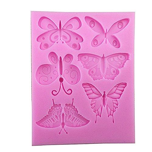 per dolci Stampo da forno con cavit/à a forma di farfalla cioccolatini e biscotti fai da te in silicone 1 pezzo Fablcrew