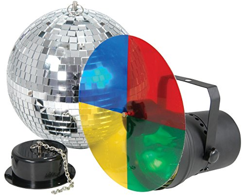 Qtx Disco Party Light Set With Motorised Mirror Ball by QTX