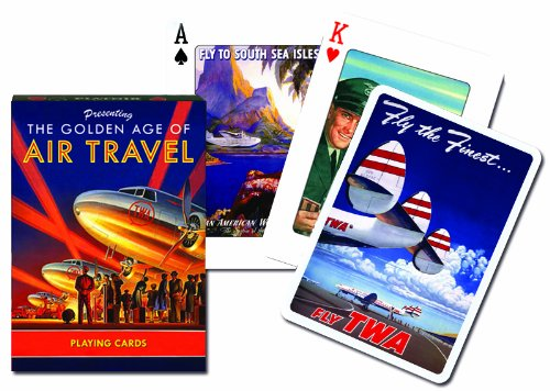 Piatnik The Golden Age of Air Travel Single Deck Austrian Playing Cards by Pinnacle Peak Trading Company