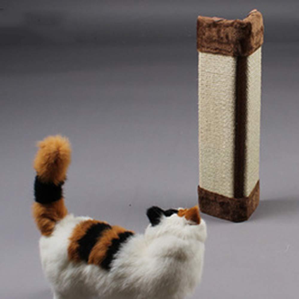 Brown Sisal Rope Plush Cat Scratch Board, Cat Toy, Cat Scratch Column,Grinding Claw, Furniture Predection,50X23X2.5cm