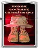 Zippo Honor Courage Commitment Army Boots Boonie Hat Lighter *RARE*