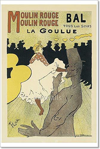- Barewalls Le Moulin Rouge La Goulue. by Henri De Toulouse-Lautrec Paper Print Wall Art (54 in. x 36 in.)