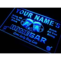 Amazon best sellers best neon signs p tm b name personalized custom home bar beer neon light sign blue aloadofball Gallery