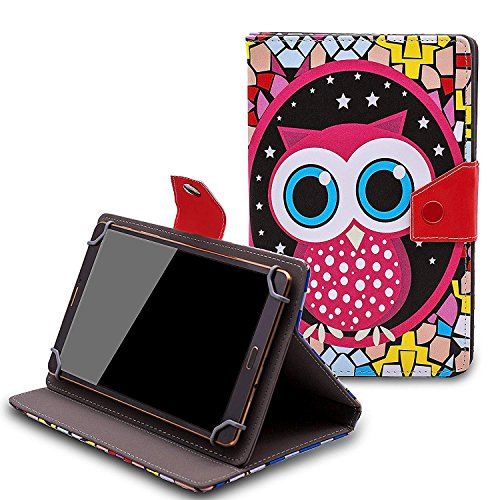Nextbook Ares8 8 inch Case - Tsmine Universal Lightweight Stand Folio PU Leather Case Protective Cover for Nextbook Ares8 8 inch Tablet,Owl Under The - Case Nextbook Inch 8