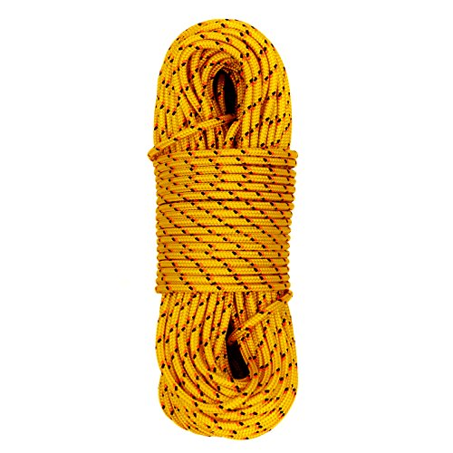 3 Mm Accessory Cord - GM CLIMBING Accessory Cord Rope Utility Cord Paracord Low Stretch 500Lb Strength for Outdoor Activities Tent Tarp Hammock Guyline Rigging 3mm (1/8in) Diameter 100Ft