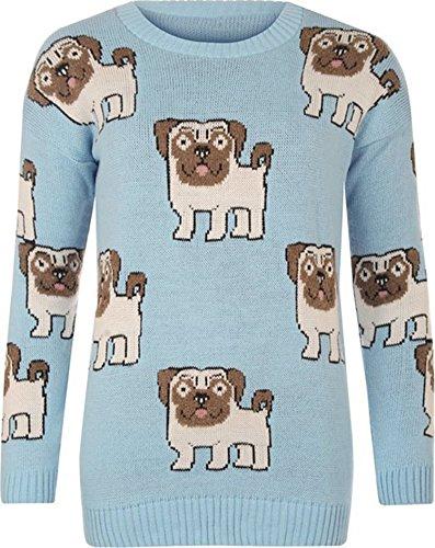 Women Dog Trendz Pull Pug Friendz imprim 1w054qq