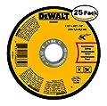 Dewalt DWA8051 Type 1 Small Diameter Cut-Off Wheel, 4-1/2 In Dia X 0.045 In 25 Pack