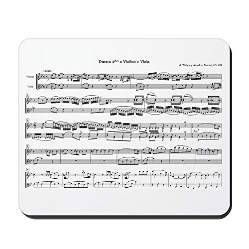 Coffee Gift Concerto (CafePress - Mozart Sheet Music - Non-slip Rubber Mousepad, Gaming Mouse Pad)