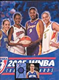 2005 WNBA Trading Card Binder & Pages with Becky Hammon Exclusive Jersey Swatch and Promo Card #P2 New York Liberty