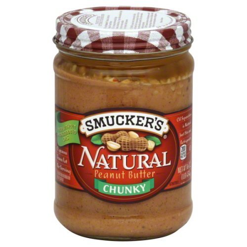 Smuckers Natural Peanut Butter 16 Oz (Pack of 4) (Chunky) ()