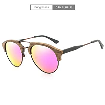 WULE-Sunglasses Unisex Placa polarizada Gafas de Sol Retro ...