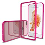 Luvvitt Clear View iPhone 7 Plus/iPhone 8 Plus Case with Hybrid Scratch Resistant Back and Shock Absorbing Bumper for Apple iPhone 7 Plus (2016) and iPhone 8 Plus (2017) - Pink