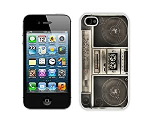 Nice Apple Iphone 4s Case Durable Soft Silicone TPU Classical Boombox Diy White Mobile Phone Case Cover for Iphone 4