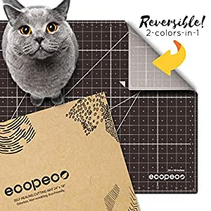 """ecopeco 18"""" x 24"""" Self Healing Cutting Mat (Brown) 