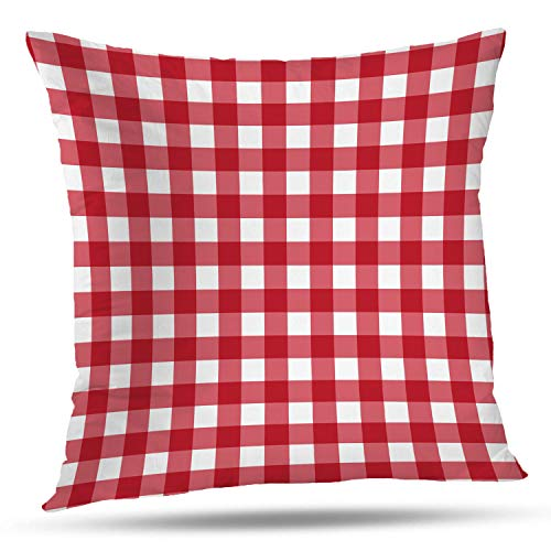 - Batmerry Gingham Pillow Covers 18x18 Inch, Red Gingham Checker Checked Checkered Pattern Double Sided Decorative Pillows Cases Throw Pillows Covers