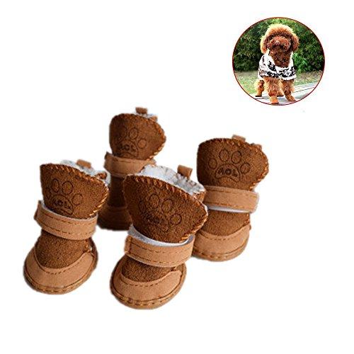 Sumen Pet Dog Cotton Blend Winter Warm Walking Snow Boots