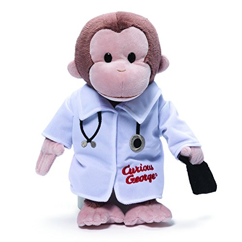 GUND Curious George Doctor Monkey Stuffed Animal Plush, 13