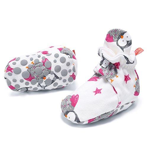 SH Cute Cartoon Pattern Cotton Slipper Socks Anti Slip Snap Unisex Baby Booties 6-9 Months