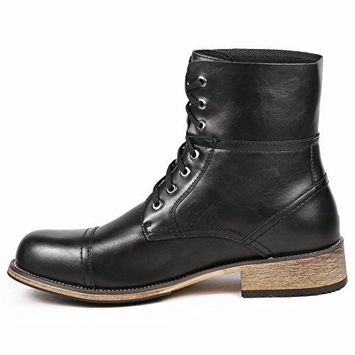 Metrocharm MC001 Men's Lace Up Cap Toe Formal Dress Casual Fashion Boots