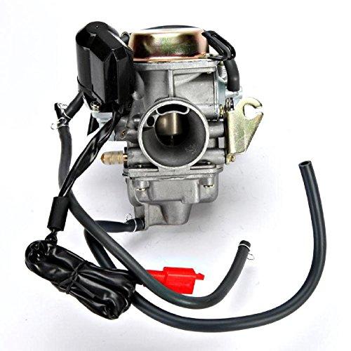 INNOGLOW 1PC Motorcycle Carburetor 150cc for Scooter Roketa SUNL Go Kart FREE Filter GY6 GY6 Carb 150cc PD24 (Roketa Karts Go)