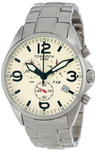 Torgoen Swiss Men's T16202 Aviation Chronograph Stainless Steel Watch