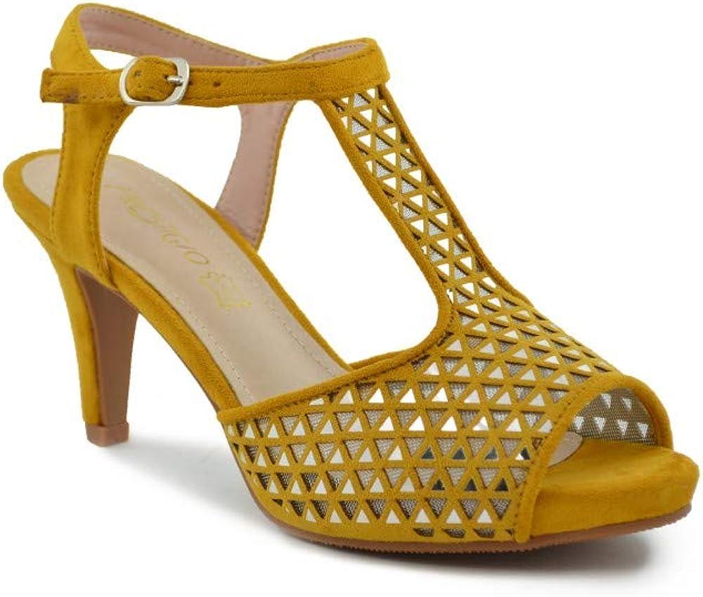 Zapato Fiesta Espejos Mostaza
