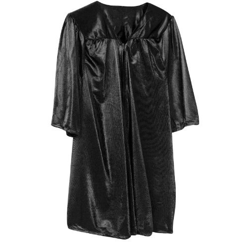 Graduation Gown Costume (Kids Graduation Gown - up to 8 years (Black))