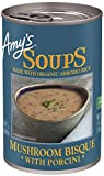 Amy's Soup, Gluten Free, Mushroom Bisque with Porcini, 14 Ounce
