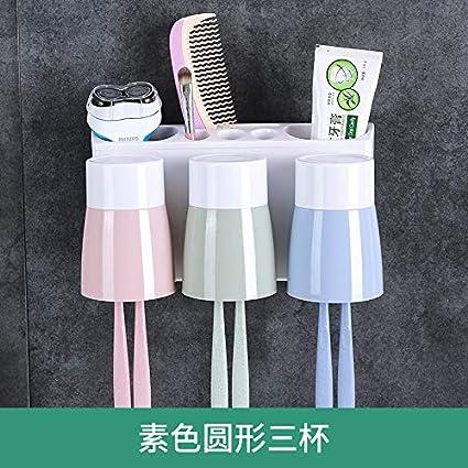Cepillo de Dientes Cuarto de baño Sin Pared Perforado Colgante de Pared Vibrato Portacepillos de cepillos