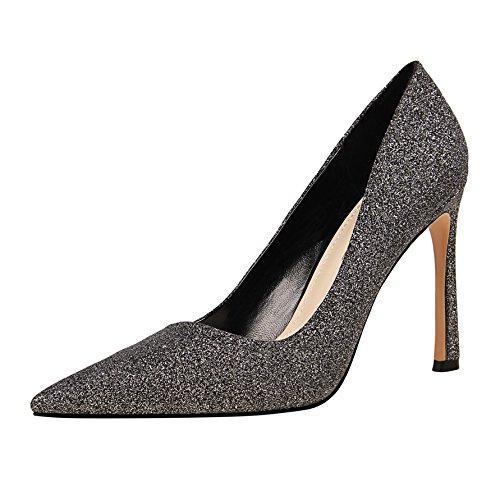 Grey Thin Heels Shoes Shallow Wind With Pointed High Super High Women Heel Fashion Yukun heels Mouth Shoes High Women'S Nightclub wTPf6Hq