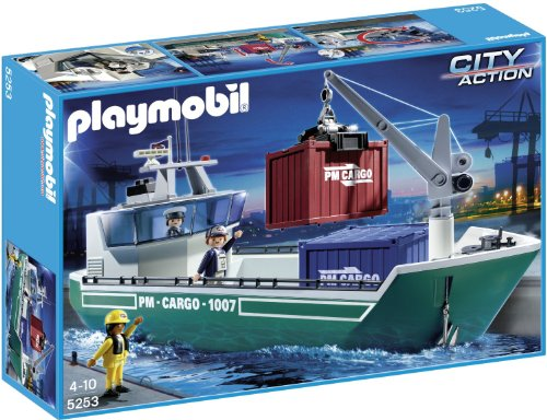 PLAYMOBIL® Cargo Ship with Loading Crane - Buy Online in UAE  | Toys