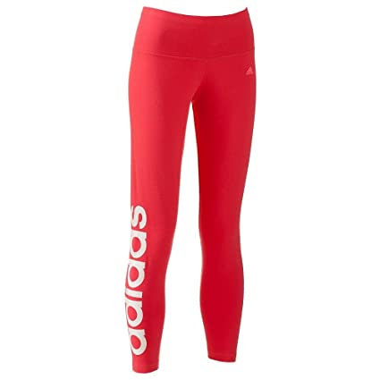 08992ad7b26efa Amazon.com: adidas ClimaLite Fitted Pants athletic women leggings light  red: Sports & Outdoors