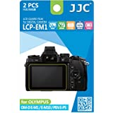 JJC LCP-EM1 Ultra hard polycarbonate LCD Film Screen Protector for Olympus OM-D E-M1, 2 Kits (Clear)