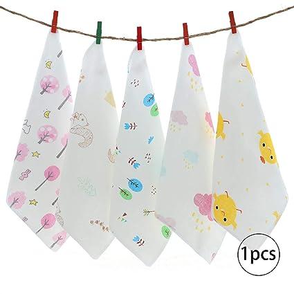 Bebé saliva toalla algodón pañuelo baño toallas toallitas de alimentación con estampado de patrón (color