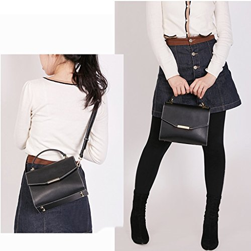 Ms Ms JIUTE Shoulder Crossbody Vintage Leather Shoulder Messenger Handbag Bag PU CTp1XqwT