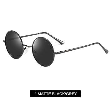 4e9847a3ba LLLM Gafas de sol Clásico Polarizado Gafas de Sol Redondas Hombres Pequeño Vintage  Retro John Lennon Gafas Mujeres Diseñador de la Marca de conducción de ...