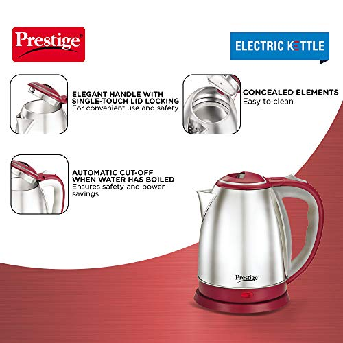 Prestige PKOSS 1.8 Litre 1500W Automatic Electric Kettle Red