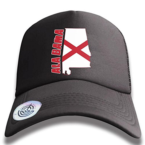 JR Unisex Baseball Cap Polo Style Adjustable Hat Proud Flag map of Alabama f0a6e128a34