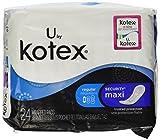 Kotex Natural Balance Maxi, Regular 24 count - Pack of 2