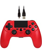 Wetoph Wireless PS4 Controller, GX24 Bluetooth Controller Wireless Verbindung Gamepad Doulshock Motors Joystick-Für PS4 Playstation 4 Controller Drittanbietern (Rot)