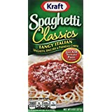 Kraft Spaghetti Classics Tangy Italian Spaghetti, Spice Mix & Parmesan Cheese, 8-Ounce Boxes (3 Pack)