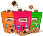 Michel et Augustin Gourmet Chocolate Cookie Squares | Individually Wrapped European Cookies | 3-Bag Variety Pa