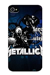 Christmas Day's Gift- New Arrival With Nice Design For Case Iphone 4/4S Cover- Metallica Bands Groups Music Entertainment Heavy Metal Hard Rock Thrash Drums